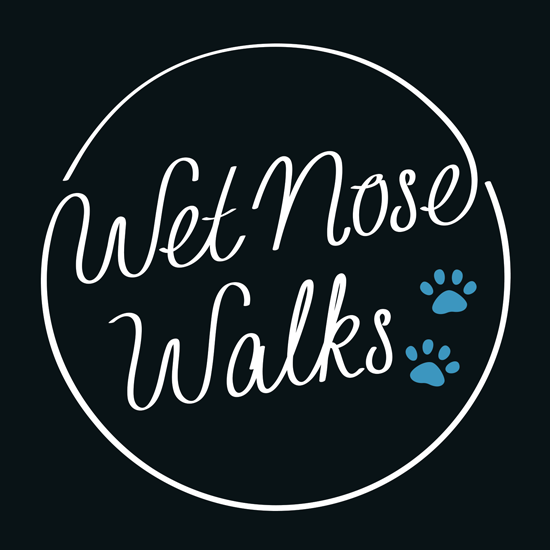 Wet Nose Walks Lettering & Logo Design