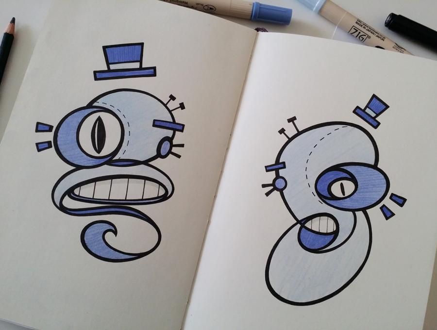 Sketchbook Works by Stina Jones