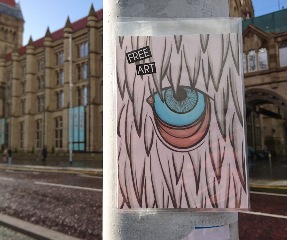 #ArtDrop Manchester Oxford Road