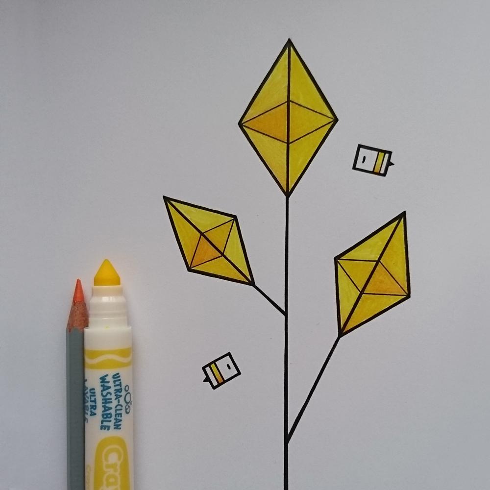 Geometric Flower Doodle